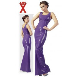 Robe longue lila en latex XS