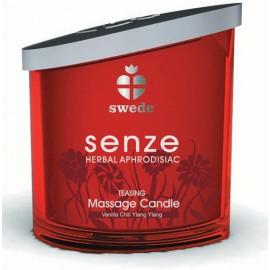 Bougie de massage Teasing Senze Swede Vanille Ylang Ylang - 150 ml