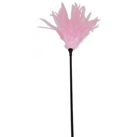 Plumeau rose sur tige - 42 cm