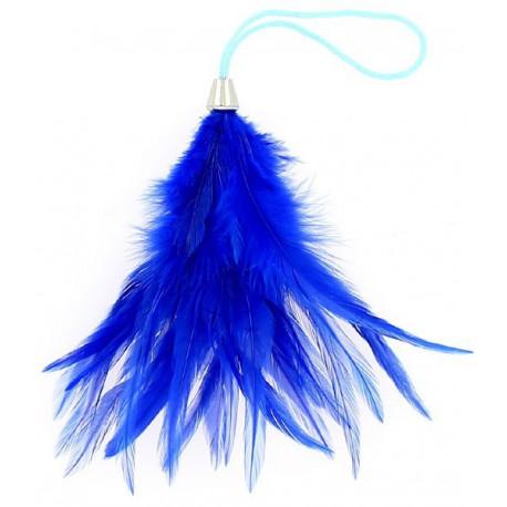 Plumeau bleu 15 cm